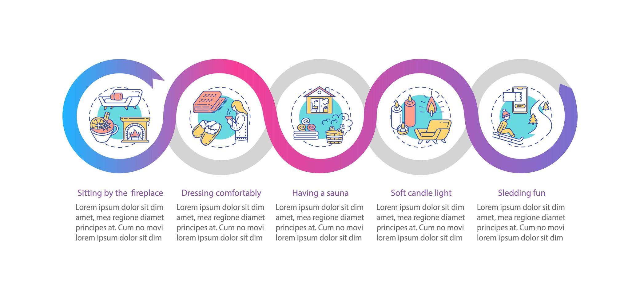 hyggelig Stil Vektor Infografik Vorlage