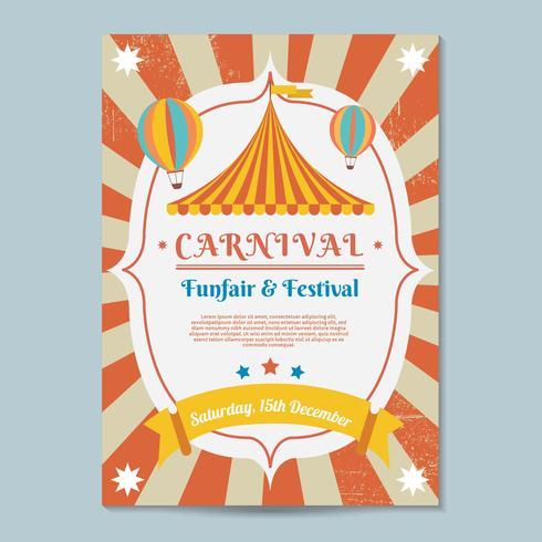 Karneval Poster Vorlage Vektor