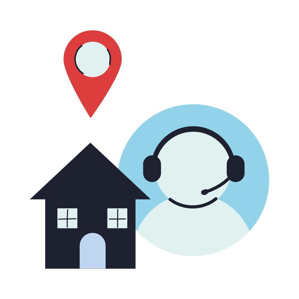 Haus als Lieferort mit Kundenservice vektor