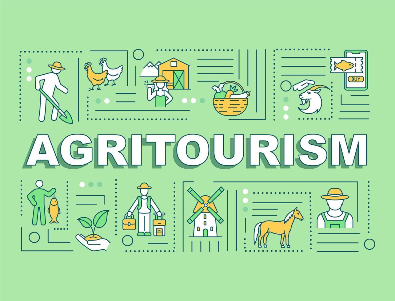 Agrotourismus Wort Konzepte Banner vektor