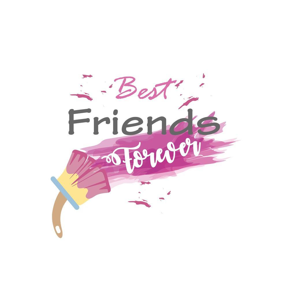 bästa vänner för alltid med pensel detaljerad stil ikon vektor design