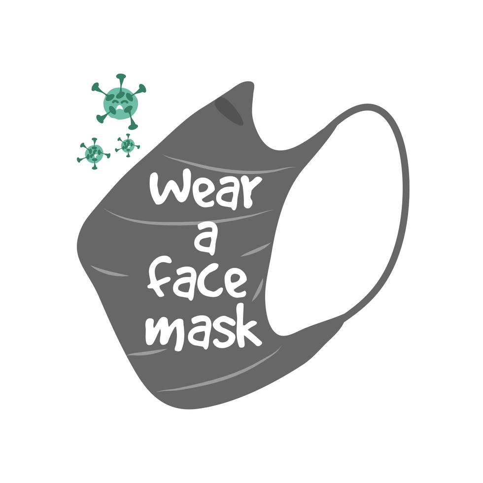 bära ansiktsmask för att förhindra koronavirus vektor