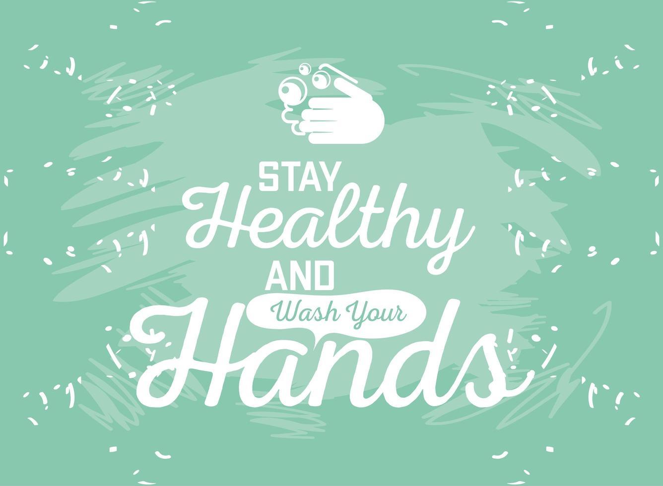 tvätta händerna med tvål och vatten vektor