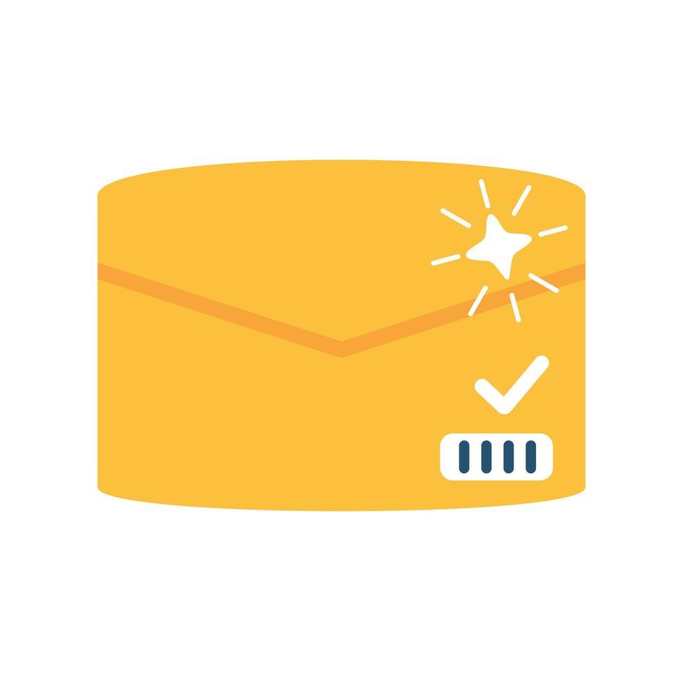 förseglad kuvertkorrespondens på vit bakgrund vektor