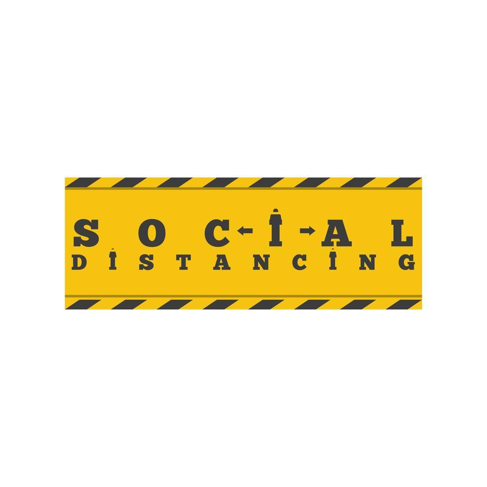 soziale Distanzierung, Zeichen zur Vermeidung von Coronavirus oder Covid 19 vektor