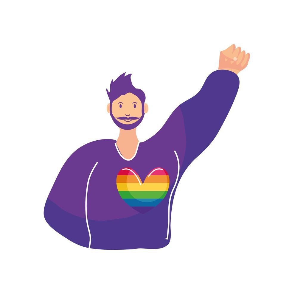 person som firar gay pride-dagen vektor