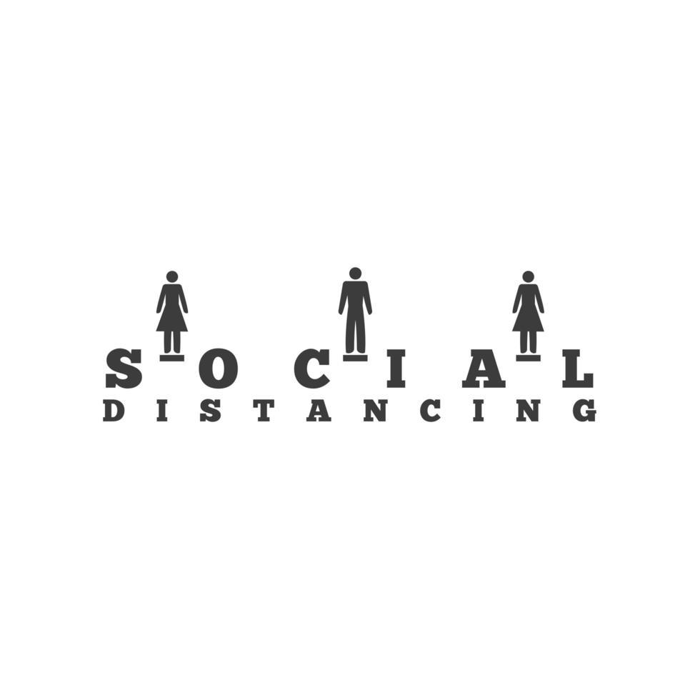 social distansering, underteckna för att undvika koronavirus eller covid 19 vektor