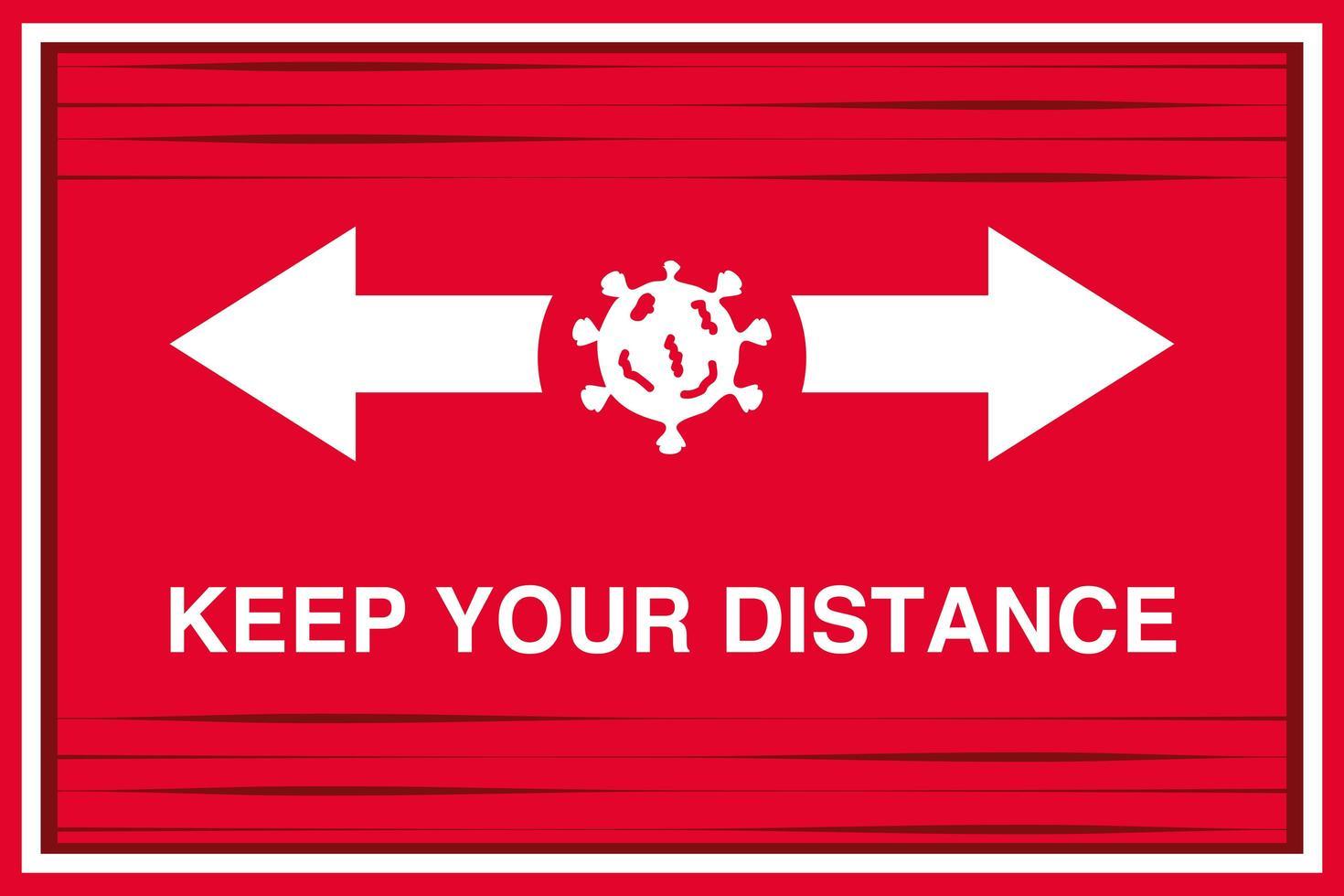 vänligen öva social distansering, behåll social distans för att stoppa coronavirus, banner vektor