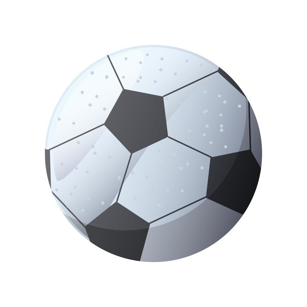 Fußball auf weißem Hintergrund vektor