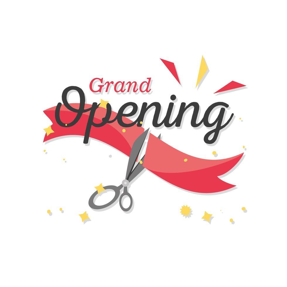 Grand Opening Banner mit Bandschnitt vektor
