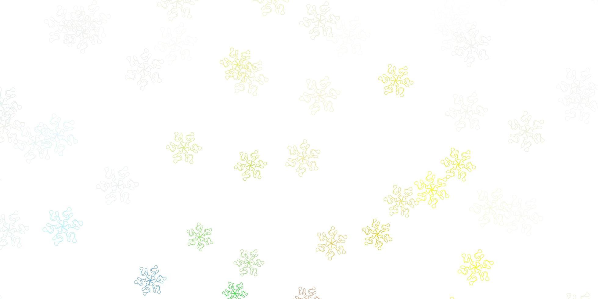 ljus flerfärgad vektor doodle mall med blommor.