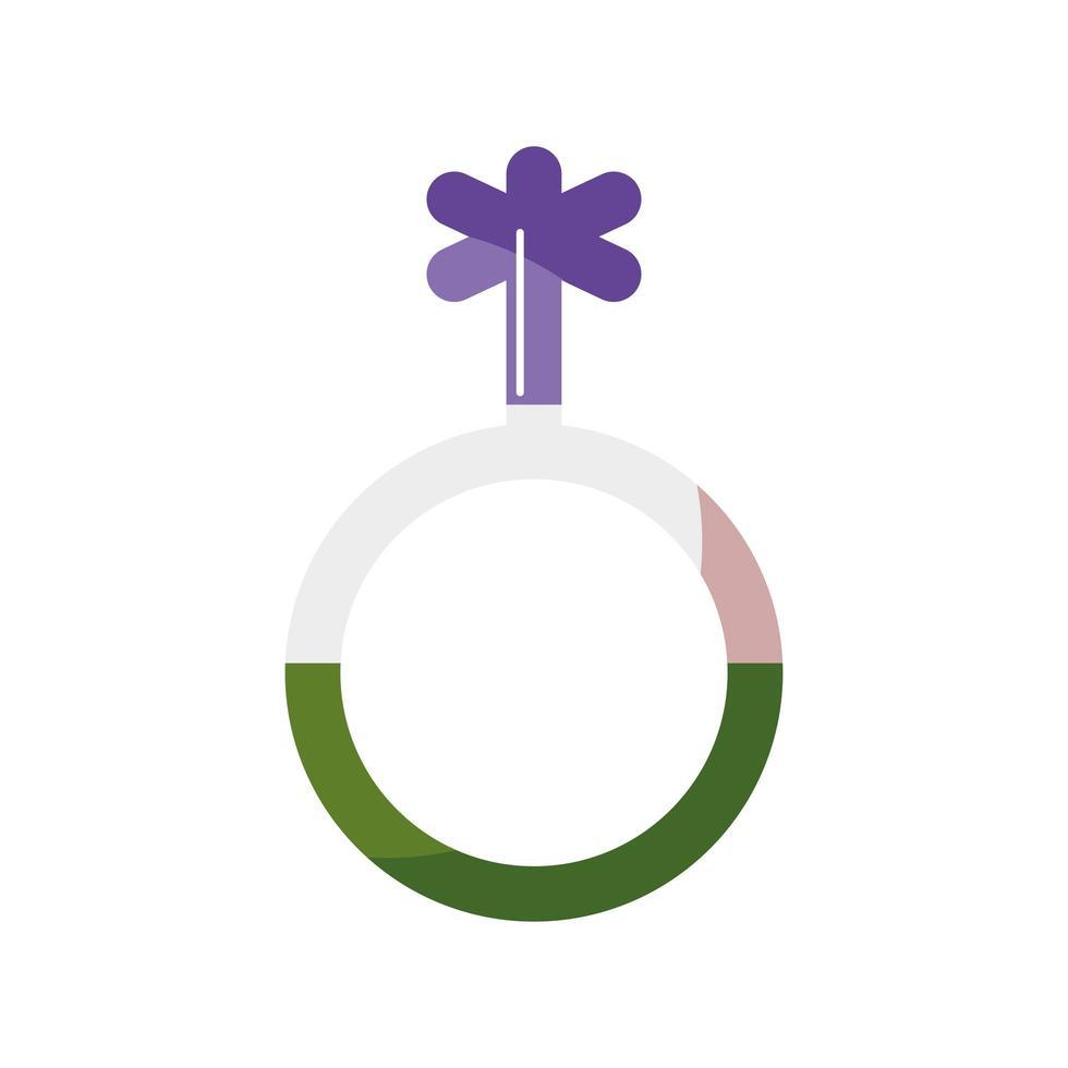 kön ikon lgbtq symbol på vit bakgrund vektor