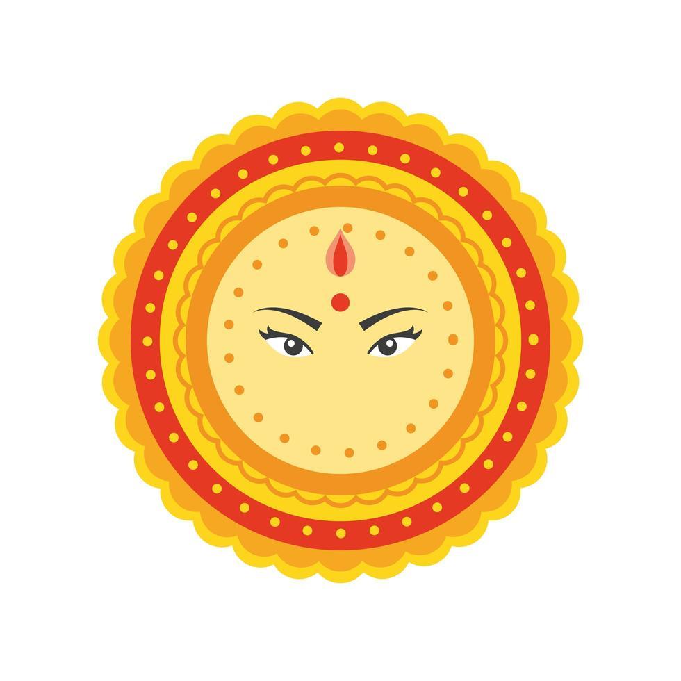 schönes Mandala auf weißem Hintergrund vektor