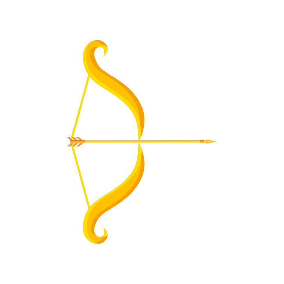 navratri, guldpil på vit bakgrund vektor