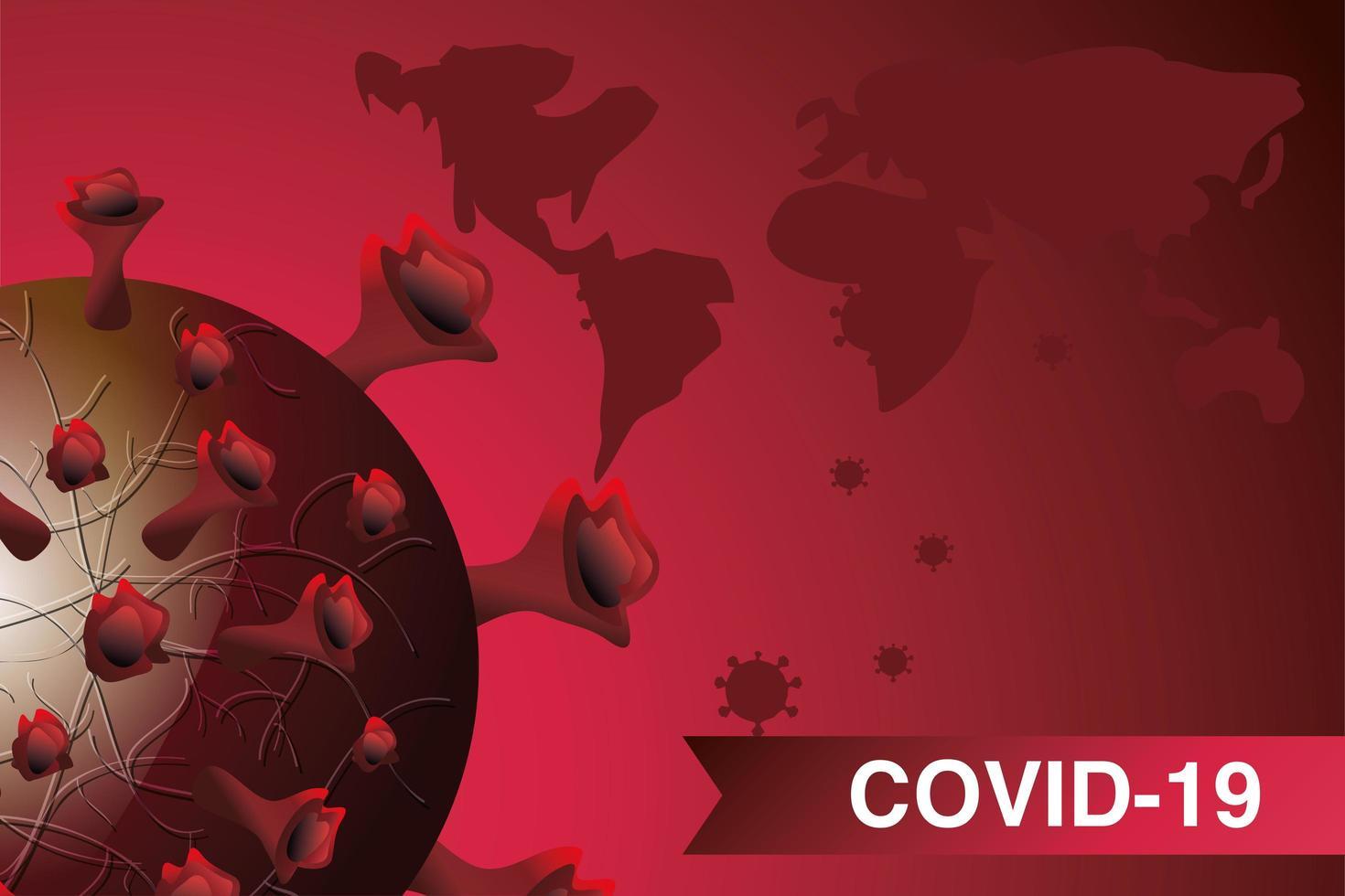 coronavirus sjukdom eller covid 19, flytande virusceller vektor