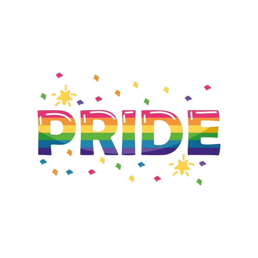 Label Stolz Homosexuell auf weißem Hintergrund vektor