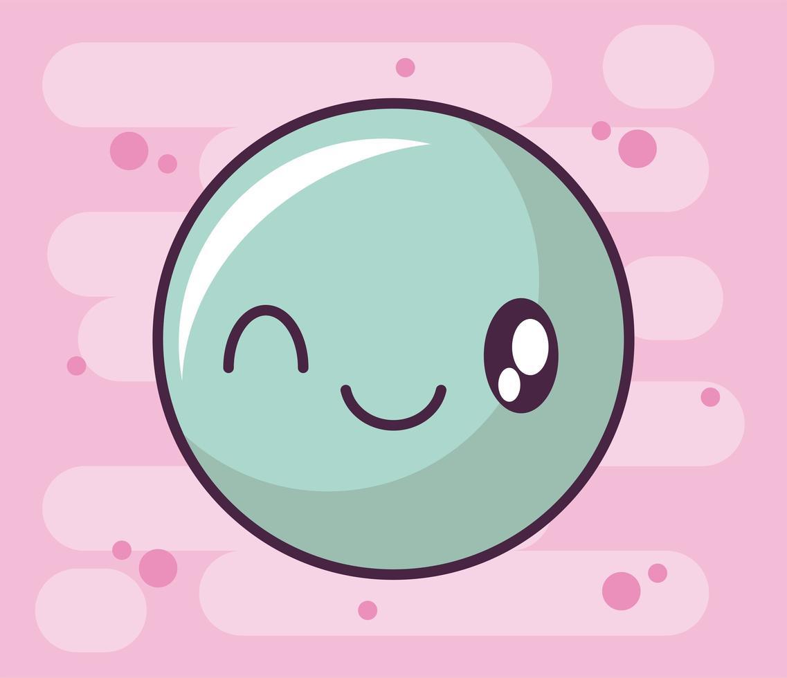 glückliches gesichtsikone, kawaii art emoticon vektor