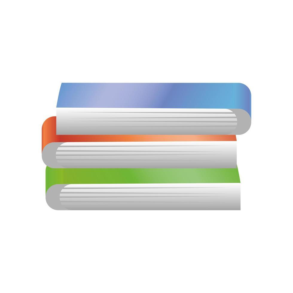 bunt böcker på vit bakgrund vektor