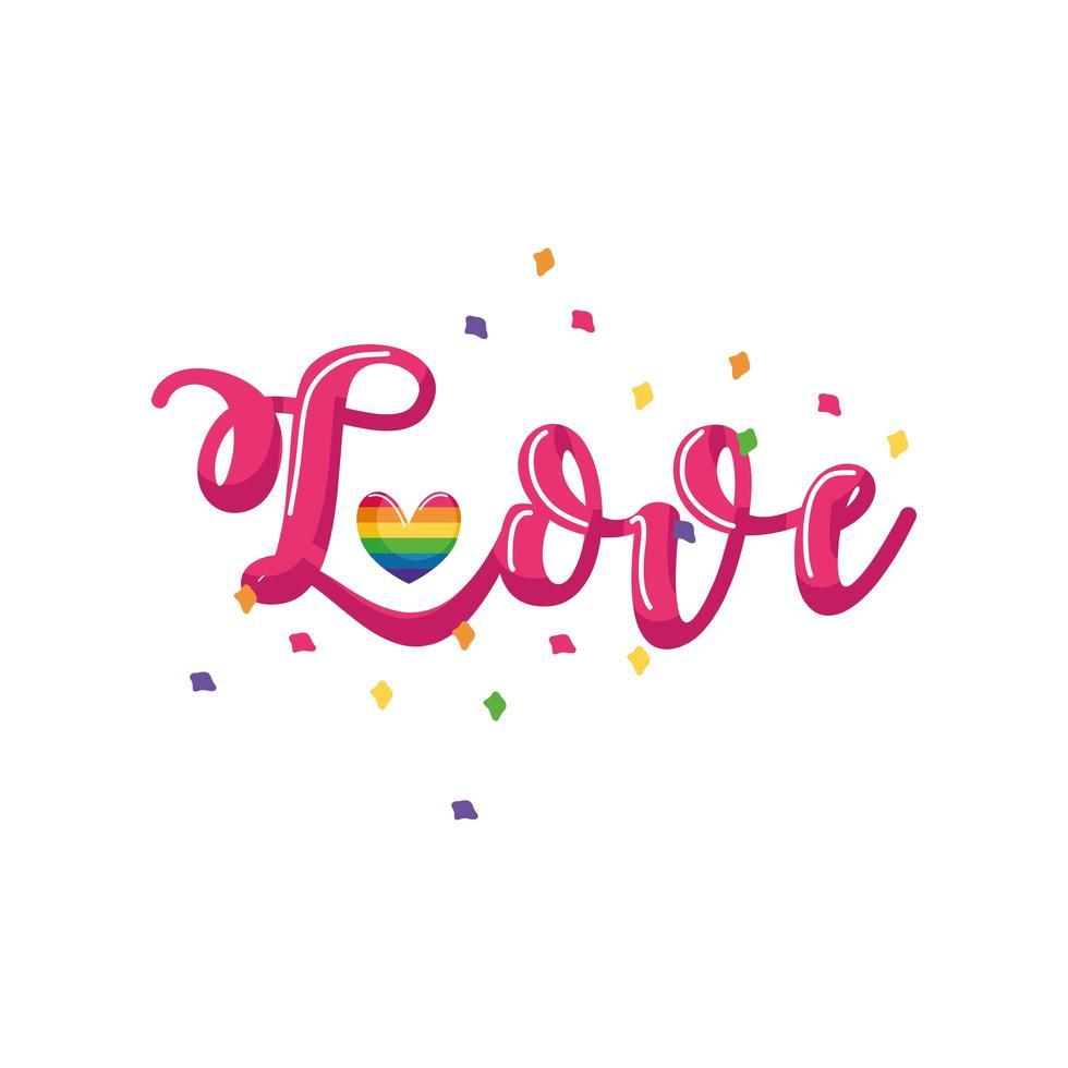 Label Liebe, Homosexuell Stolz auf weißem Hintergrund vektor