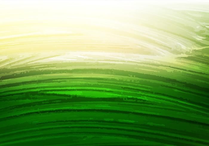 Freier Vektor-Grün-Aquarell-Hintergrund vektor