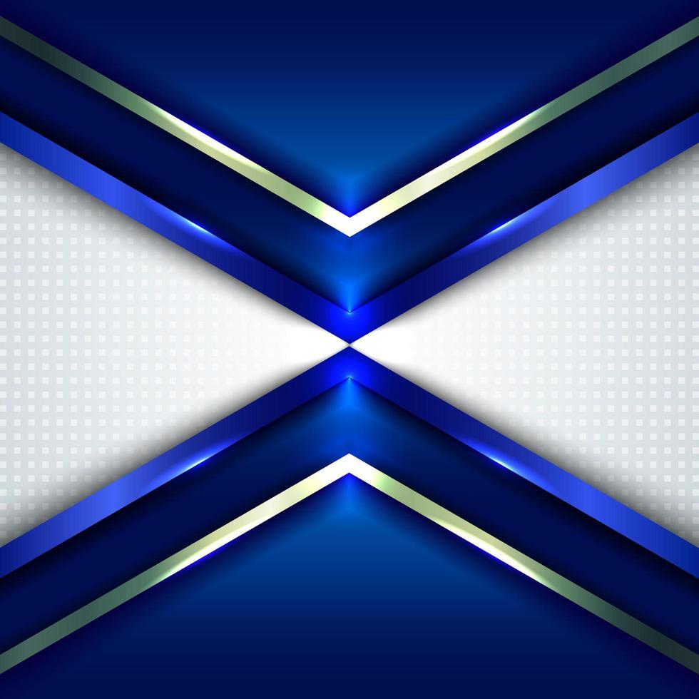 abstrakt teknik koncept blå metalliska vinkel pilar vektor