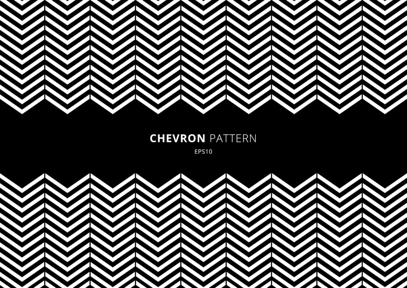 svartvitt chevronmönster med plats för din text. vektor