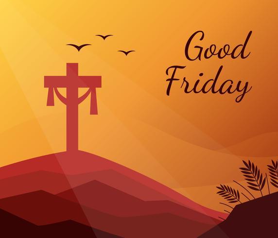 jesus korsar god fredag bakgrund vektor