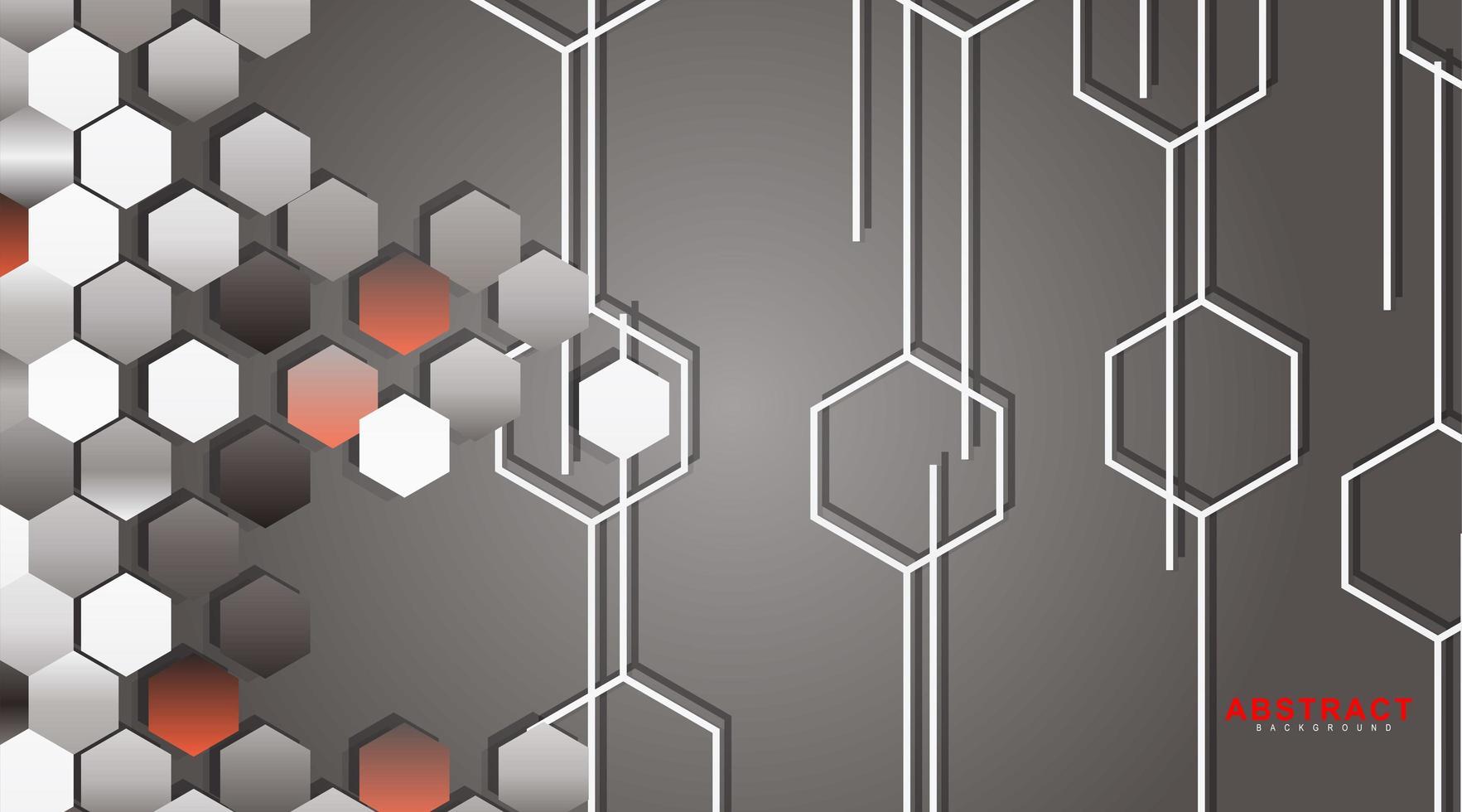 abstrakt vektor bakgrund av en sexkantig geometrisk vägg