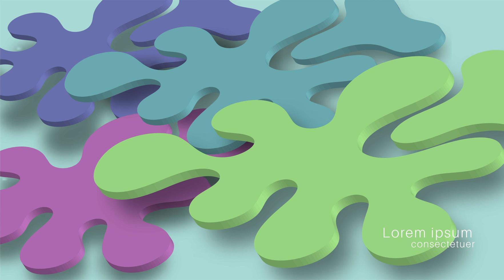 Überlappende flüssige Hintergrunddesigns und realistische Schatten. 3D-Vektorillustration vektor