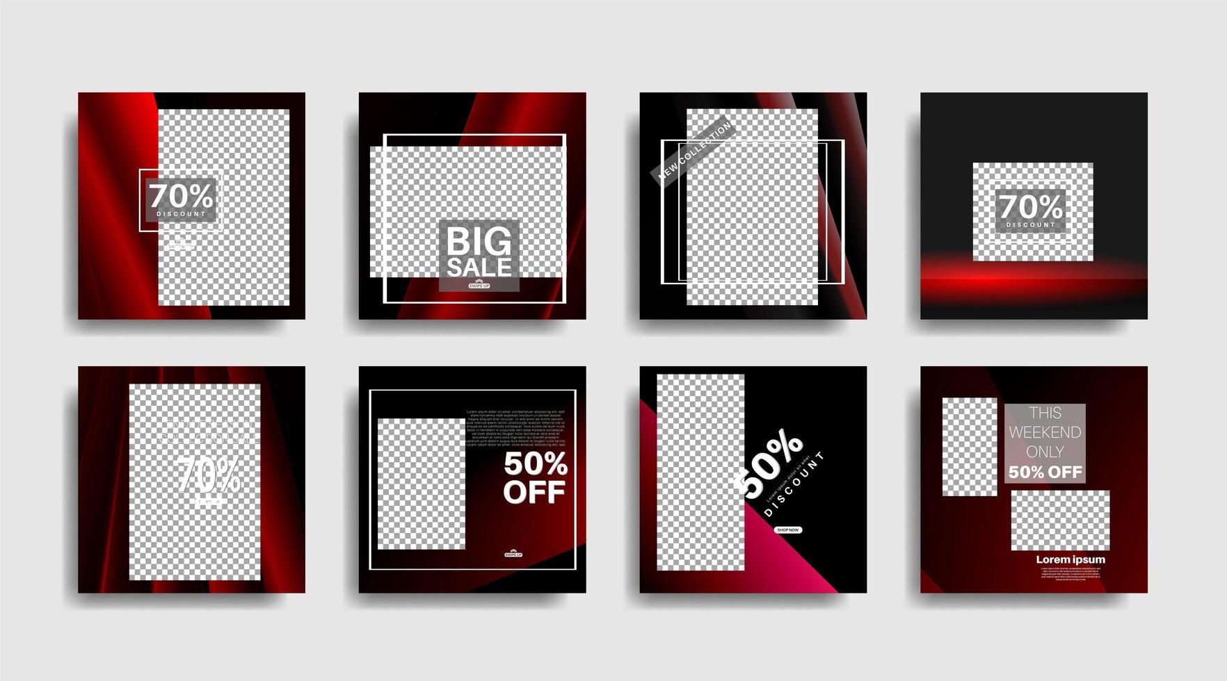 modern marknadsföring fyrkantig webb banner för sociala medier vektor design illustration