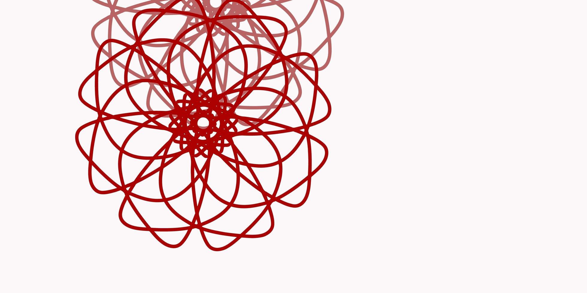 ljusrosa, röd vektor naturlig layout med blommor.