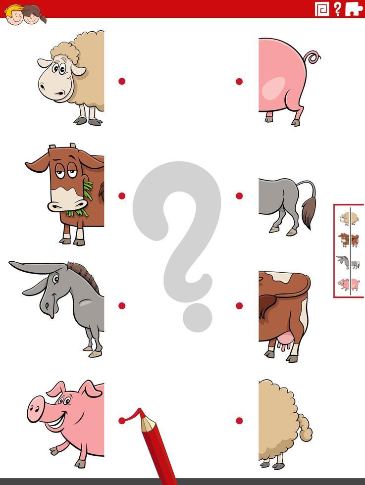 matcha bildhalvor med husdjurens pedagogiska uppgift vektor