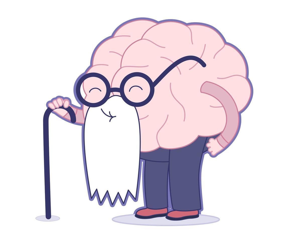 ålder, hjärnsamling vektor