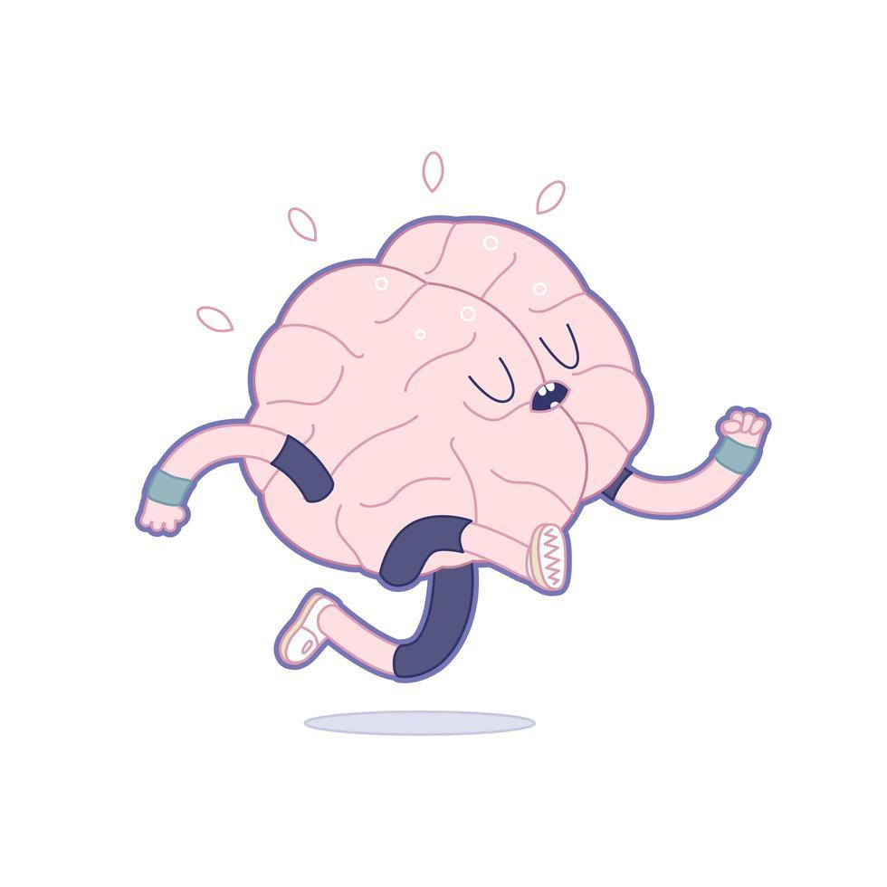 träna din hjärna, springa vektor