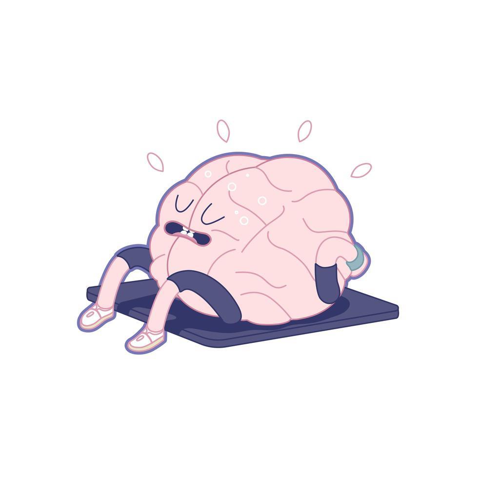 träna din hjärna, kropp upp vektor