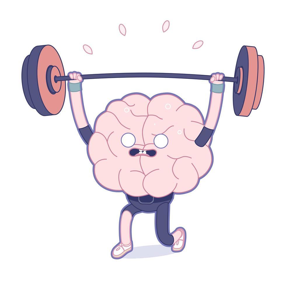 träna din hjärna, tyngdlyftning vektor