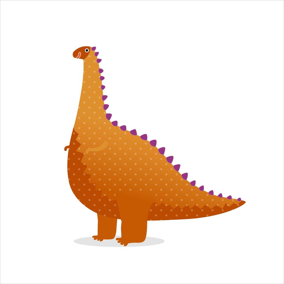 orange prickig leksak dinosaurie vektor