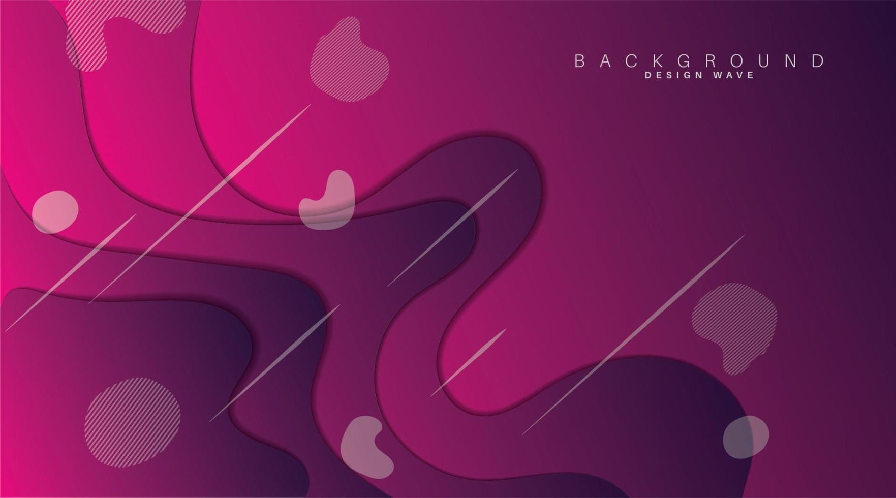 Wellenform mit violettem Farbverlauf. Papierschnitt Hintergrund. Vektor-Design-Illustration vektor