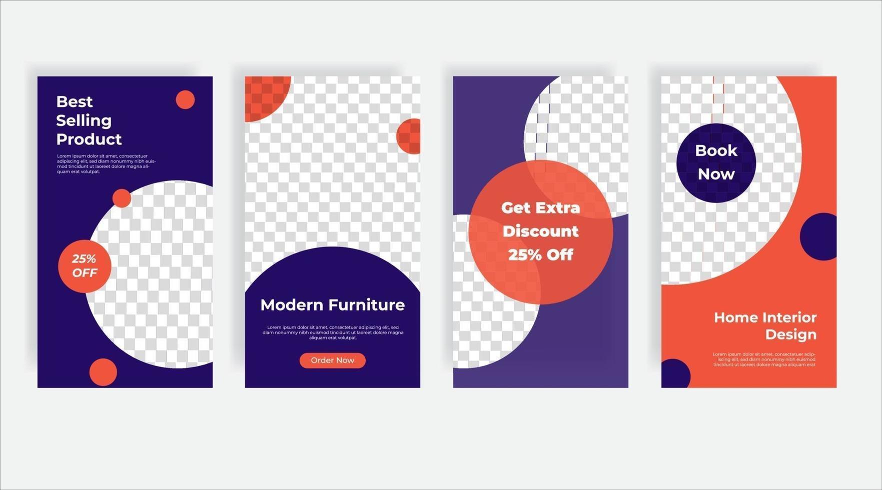 bästsäljande möbler sociala medier post mall banner vektor