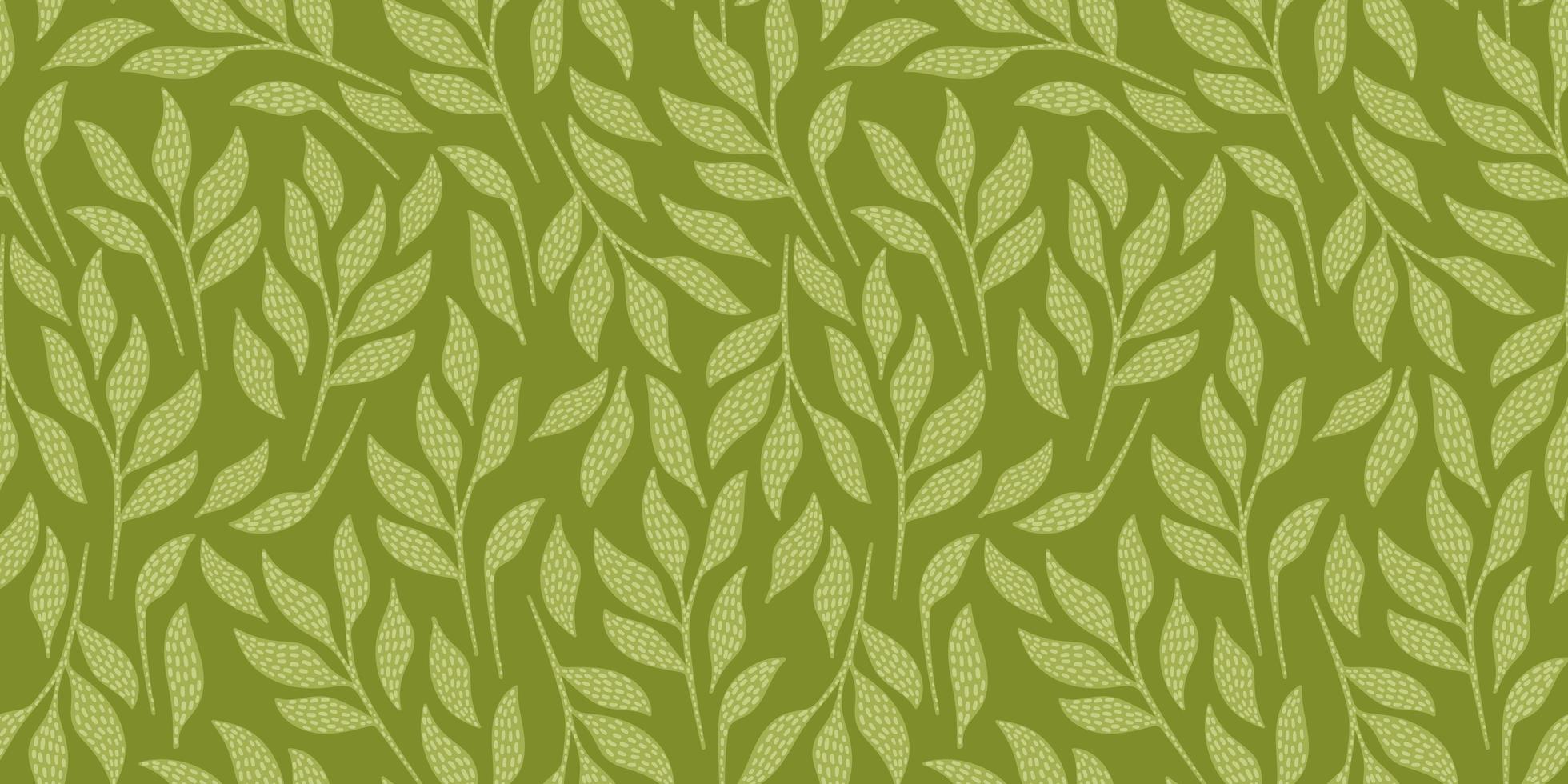 künstlerisches nahtloses Muster mit abstrakten Blättern. modernes Design für Papier, Bezug, Stoff, Inneneinrichtung und andere. vektor