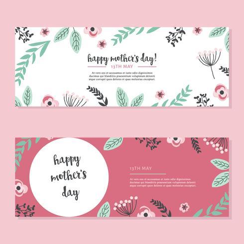 Rosa Karten für den Tag der Mutter vektor