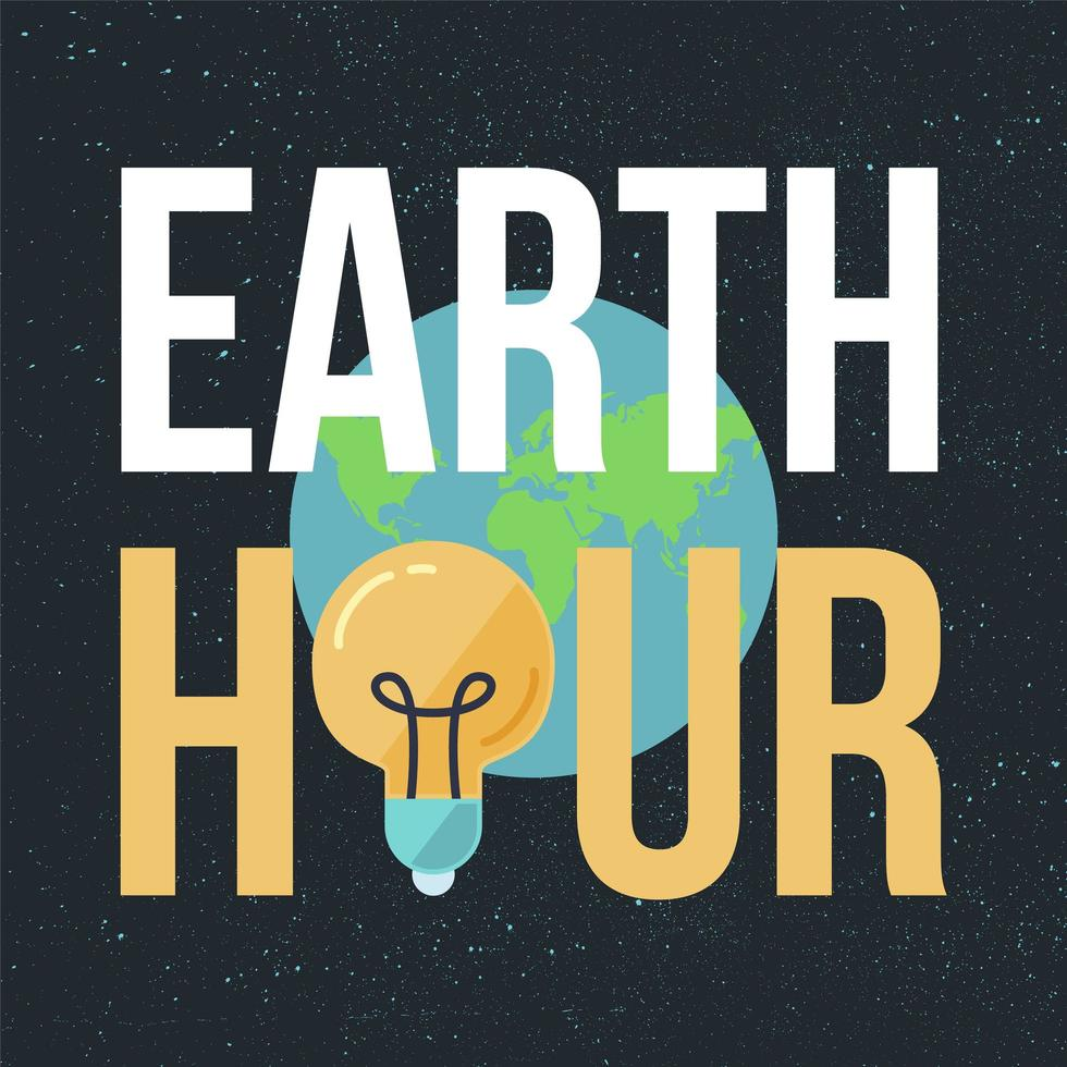 earth hour banner vektor