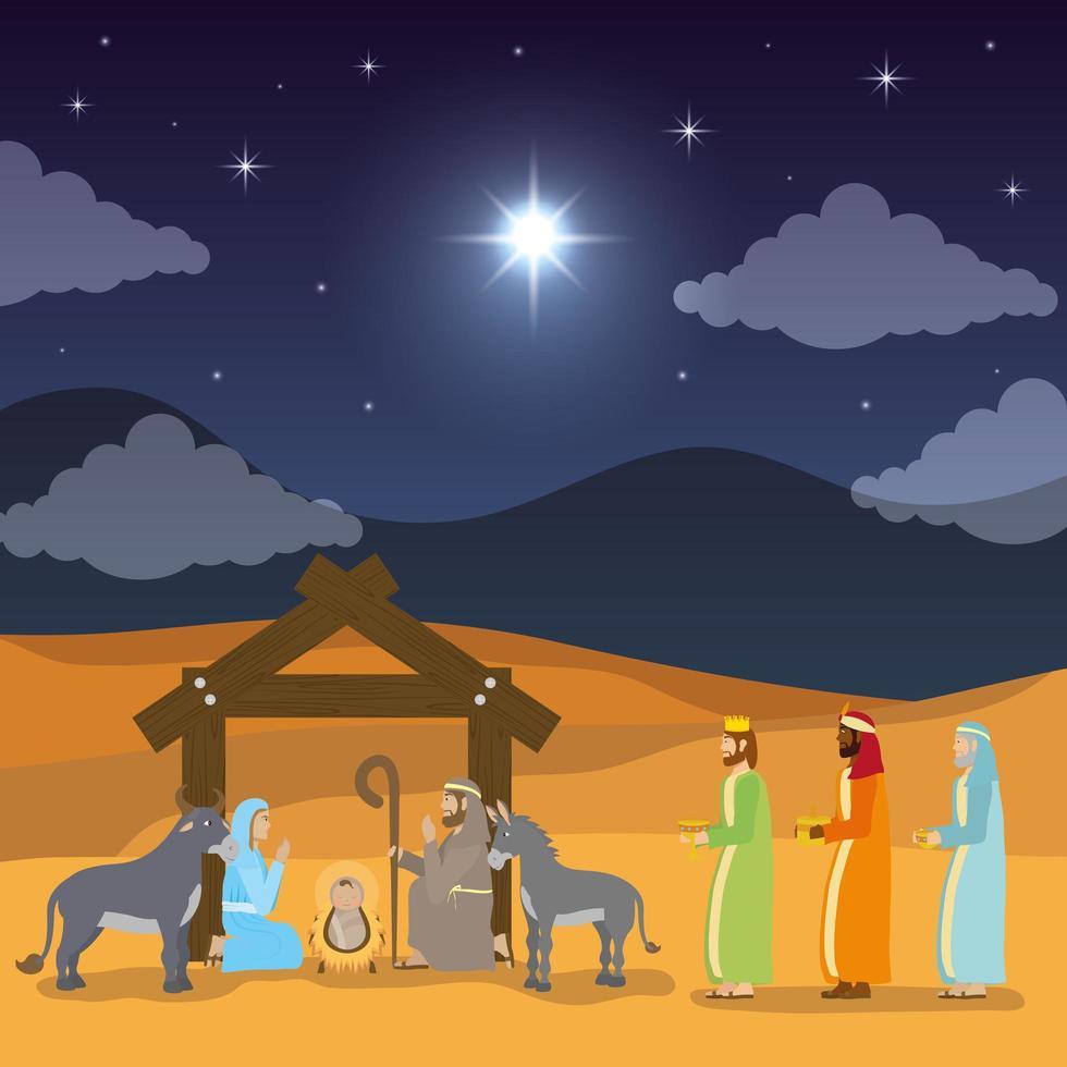 Offenbarung der Jesus-Szene vektor
