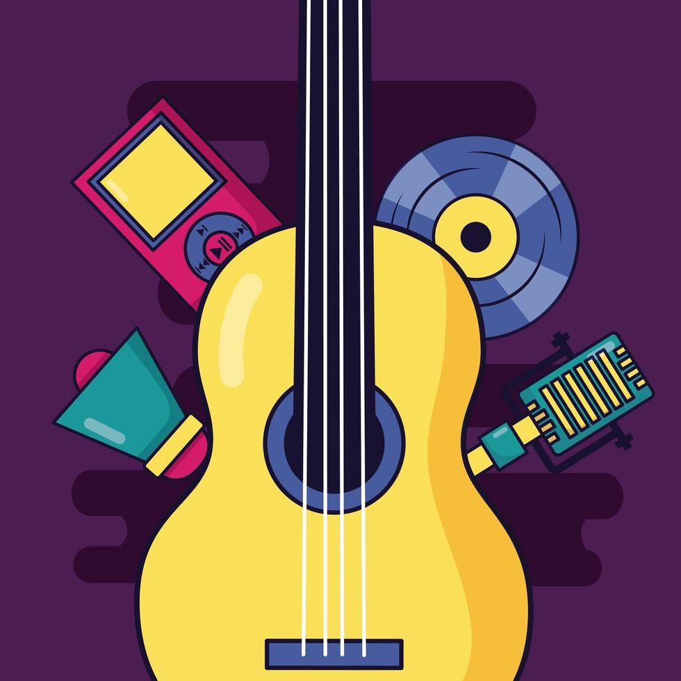 Musikelemente Design vektor