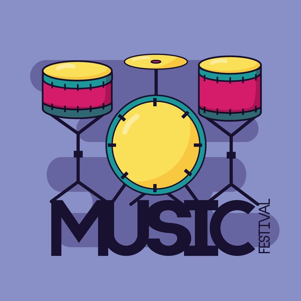 Schlagzeug klassischer Musik Festival Hintergrund vektor