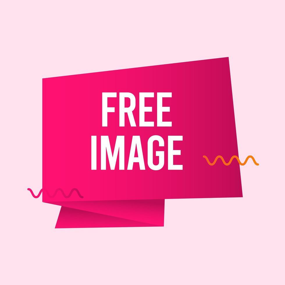 freie Bildtextetikettvektorschablonenentwurfsillustration vektor