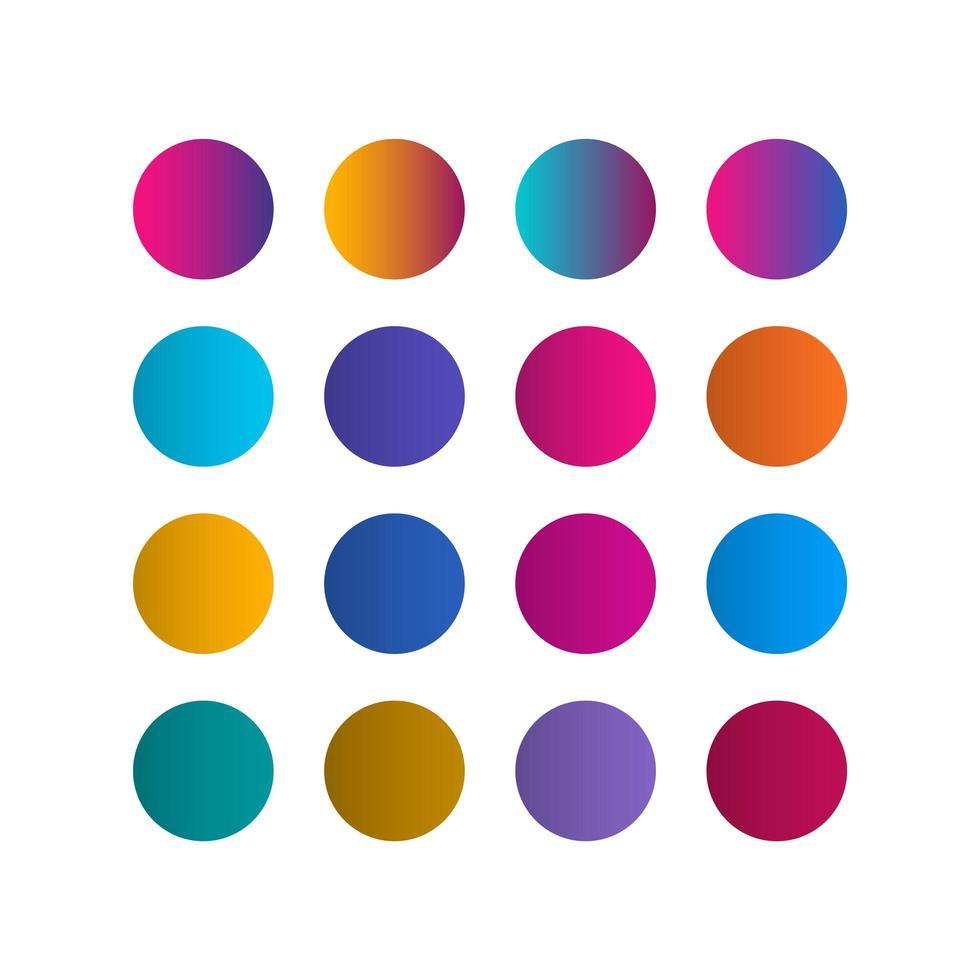 Farbpalette Farbverlauf Registerkarten Vektor Vorlage Design Illustration