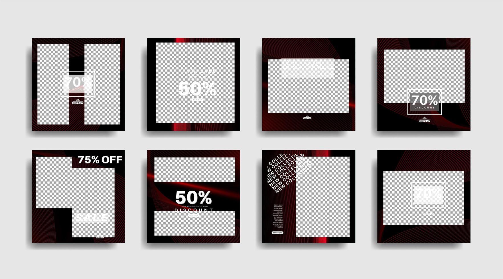 modernes Werbequadrat-Webbanner für soziale Medien vektor