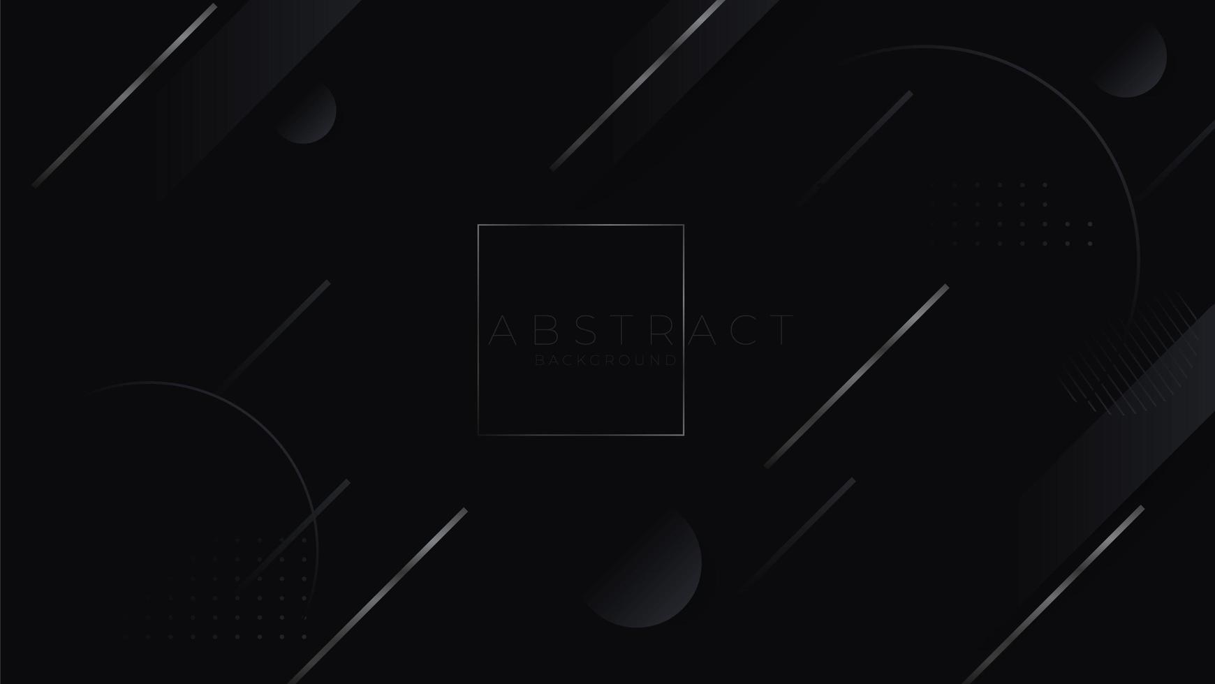 schwarzer abstrakter minimalistischer Hintergrund mit dunkler geometrischer Form. moderne Designdekoration strukturierte Luxusgradienten geometrische Elemente vektor