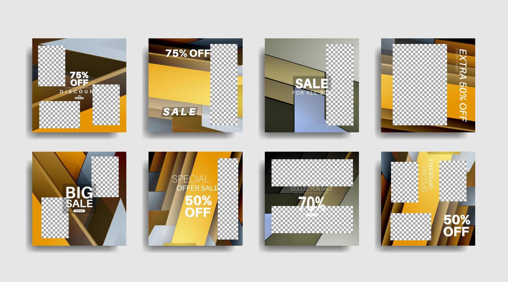 modernes Werbequadrat-Webbanner für soziale Medien. Vektordesign vektor